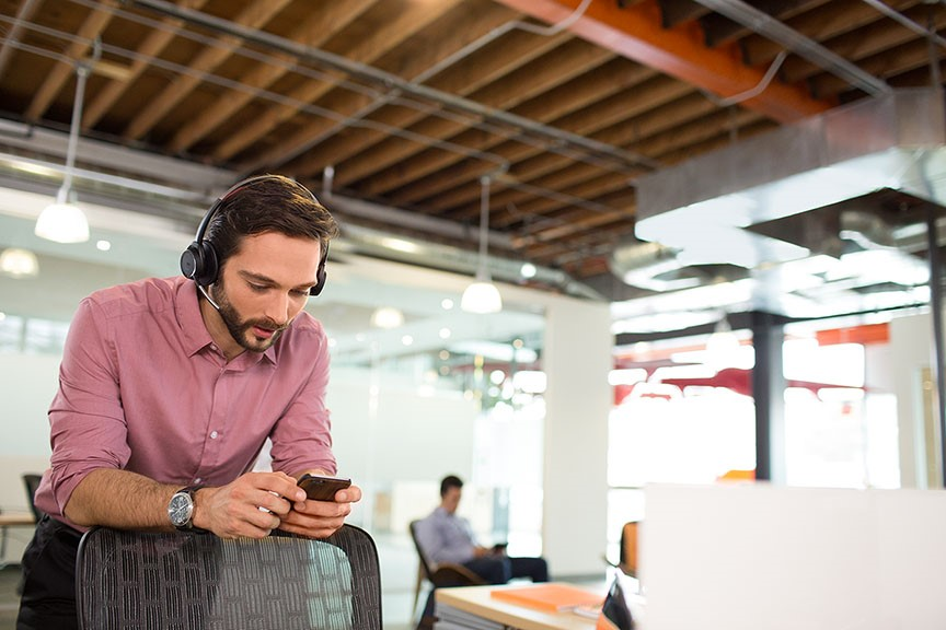 0696e736c88 Do you work in an open office environment? Are your primary modes of  communication a PC and Mobile device? Do you like streaming music while you  work?
